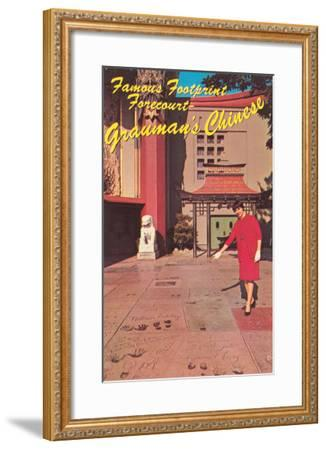 Footprints, Grauman's Chinese Theater, Los Angeles, California--Framed Art Print