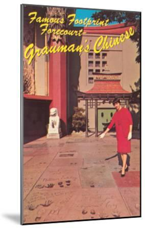 Footprints, Grauman's Chinese Theater, Los Angeles, California--Mounted Art Print
