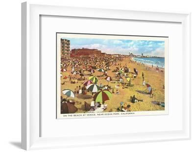 Beach at Venice, Los Angeles, California--Framed Art Print