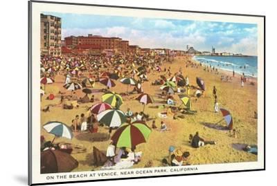 Beach at Venice, Los Angeles, California--Mounted Art Print