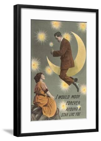 I'd Moon Forever around a Star Like You--Framed Art Print
