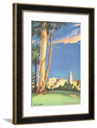 Civic Center, Eucalyptus, Los Angeles, California--Framed Art Print