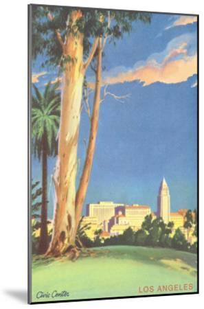 Civic Center, Eucalyptus, Los Angeles, California--Mounted Art Print