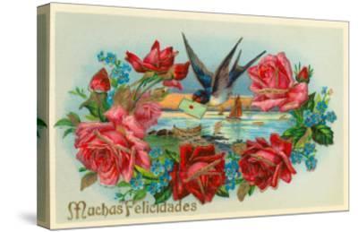 Congratulations, Muchas Felicidades--Stretched Canvas Print