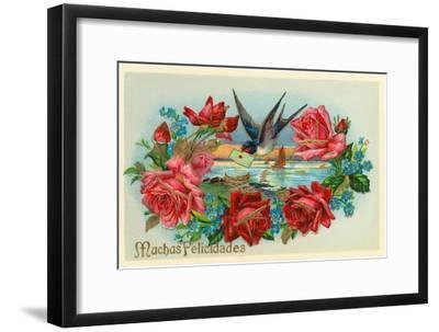 Congratulations, Muchas Felicidades--Framed Art Print