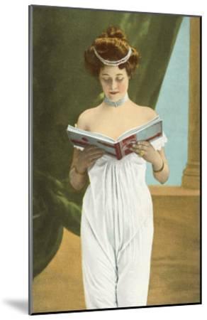 Victorian Woman Reading--Mounted Art Print