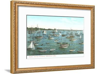 Harbor Showing Causeway, Marblehead, Mass.--Framed Art Print