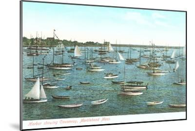 Harbor Showing Causeway, Marblehead, Mass.--Mounted Art Print