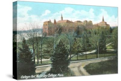 College Hall, Wellesley College, Mass.--Stretched Canvas Print