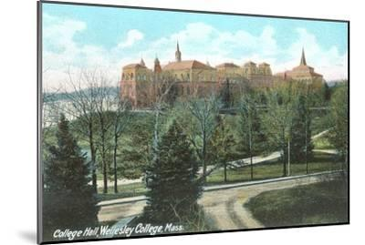 College Hall, Wellesley College, Mass.--Mounted Art Print