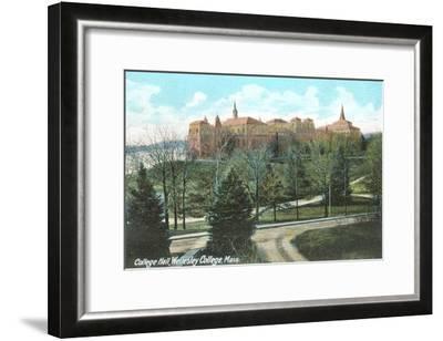College Hall, Wellesley College, Mass.--Framed Art Print