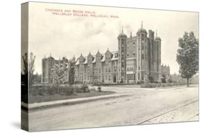 Cazenove and Beebe Halls, Wellesley College, Wellesley, Mass.--Stretched Canvas Print