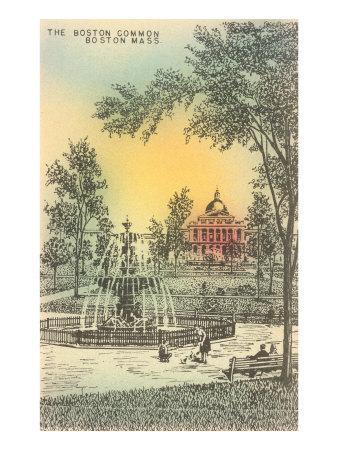 Boston Common, Boston, Mass.--Art Print