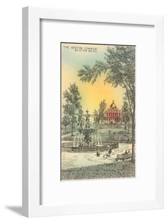Boston Common, Boston, Mass.--Framed Art Print