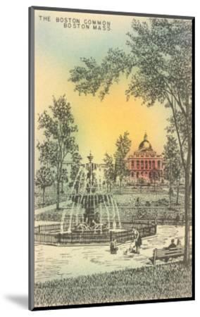 Boston Common, Boston, Mass.--Mounted Art Print