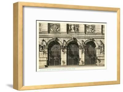 Public Library, Boston, Mass.--Framed Art Print