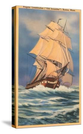 Old Ironsides Painting, Boston, Mass.--Stretched Canvas Print
