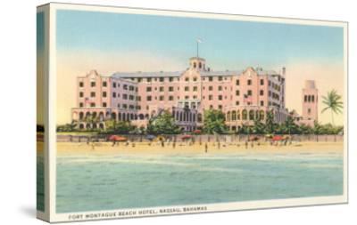 Fort Montague Beach Hotel, Nassau, Bahamas--Stretched Canvas Print