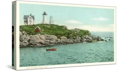 Nubble Lighthouse, York, Maine--Stretched Canvas Print