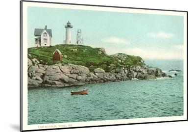 Nubble Lighthouse, York, Maine--Mounted Art Print