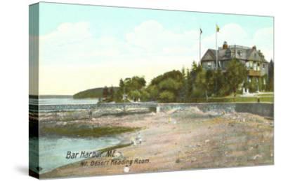 Mt. Desert Reading Room, Bar Harbor, Maine--Stretched Canvas Print