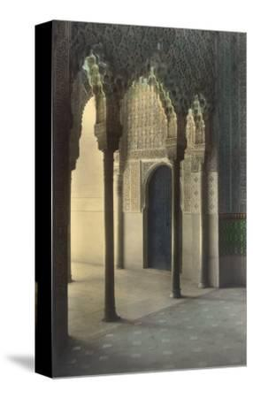Moorish Arches, Alhambra, Granada, Spain--Stretched Canvas Print