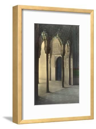 Moorish Arches, Alhambra, Granada, Spain--Framed Art Print