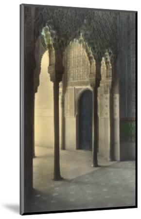 Moorish Arches, Alhambra, Granada, Spain--Mounted Art Print