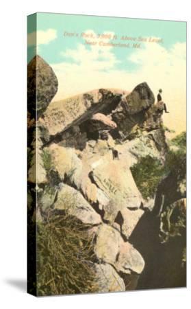 Dan's Rock, Cumberland, Maryland--Stretched Canvas Print
