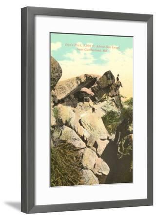 Dan's Rock, Cumberland, Maryland--Framed Art Print