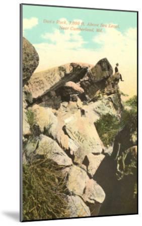 Dan's Rock, Cumberland, Maryland--Mounted Art Print