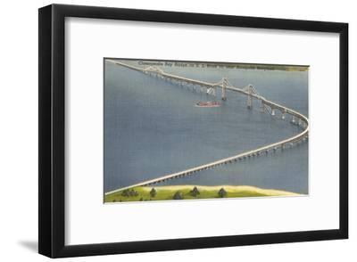 Chesapeake Bay Bridge, Annapolis, Maryland--Framed Art Print