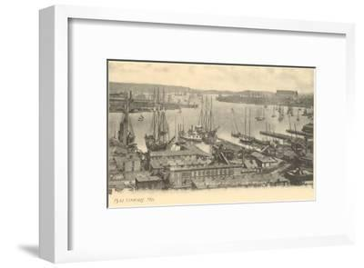 Basin and Locust Point, Baltimore, Maryland--Framed Art Print