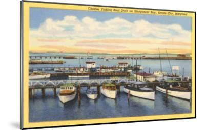 Fishing Boats, Ocean City, Maryland--Mounted Art Print