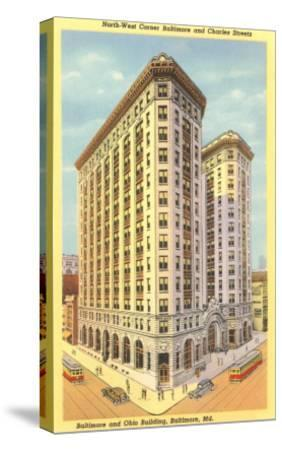 Baltimore & Ohio Building, Baltimore, Maryland--Stretched Canvas Print