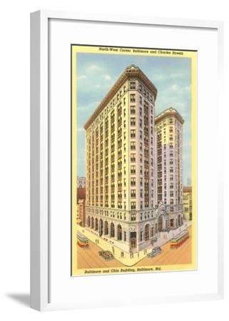 Baltimore & Ohio Building, Baltimore, Maryland--Framed Art Print
