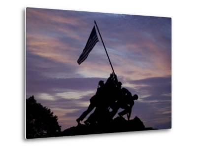 US Marine Corps Memorial is Silhouetted Against the Early Morning Sky in Arlington, Virginia--Metal Print
