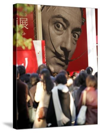 Visitors Form a Long Queue Outside Tokyo's Ueno-No-Mori Art Museum--Stretched Canvas Print