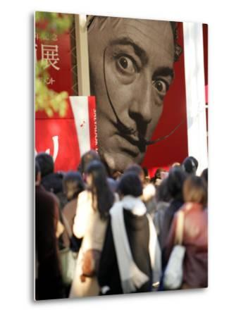 Visitors Form a Long Queue Outside Tokyo's Ueno-No-Mori Art Museum--Metal Print
