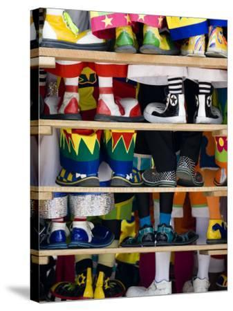 Group Photo of Clowns' Shoes at a Week Long Latin American Clown Convention in Mexico City--Stretched Canvas Print