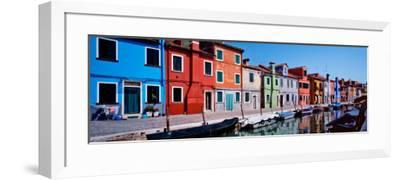 Houses at the Waterfront, Burano, Venetian Lagoon, Venice, Italy--Framed Photographic Print