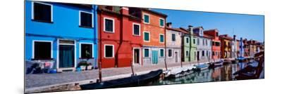 Houses at the Waterfront, Burano, Venetian Lagoon, Venice, Italy--Mounted Photographic Print