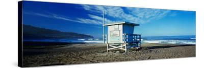 Lifeguard Hut on the Beach, Torrance Beach, Torrance, Los Angeles County, California, USA--Stretched Canvas Print