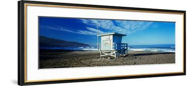 Lifeguard Hut on the Beach, Torrance Beach, Torrance, Los Angeles County, California, USA--Framed Photographic Print