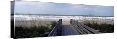 Boardwalk on the Beach, Nokomis, Sarasota County, Florida, USA--Stretched Canvas Print