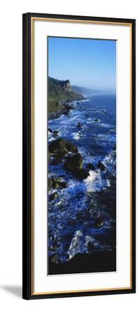 Rocky Coastline in Evening Twilight Near Westport, Redwoods National Park, California, USA-Paul Souders-Framed Photographic Print