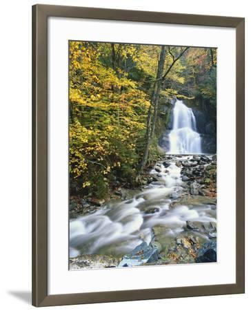 Moss Glen Falls in Autumn, Granvillie, Vermont, USA-Adam Jones-Framed Photographic Print
