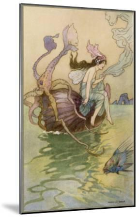 A Water-Nymph with Other Marine Species--Mounted Giclee Print