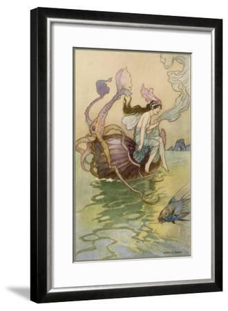 A Water-Nymph with Other Marine Species--Framed Giclee Print