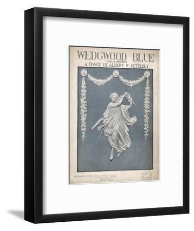 An Illustration of a Typical Wedgwood Design on the Cover of the Music Sheet 'Wedgwood Blue'--Framed Giclee Print